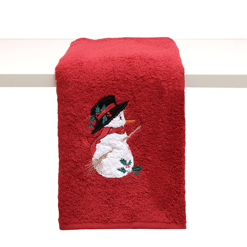 Πετσέτα Χριστουγεννιάτικη Απλικέ Σε Κουτί Δώρου 2316 Red Viopros Προσώπου