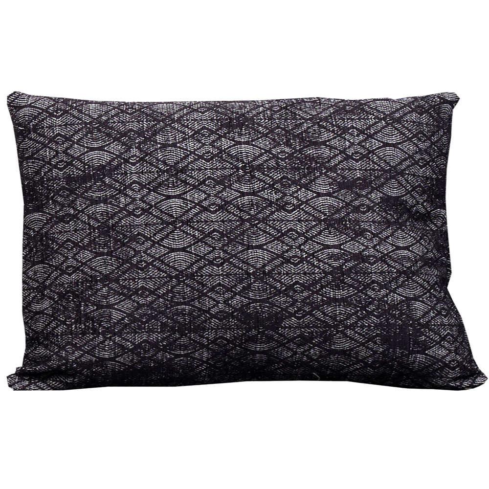 Μαξιλάρι Διακοσμητικό (Με Γέμιση) Σχ. 2203 Black Viopros 30Χ50 100% Chenille