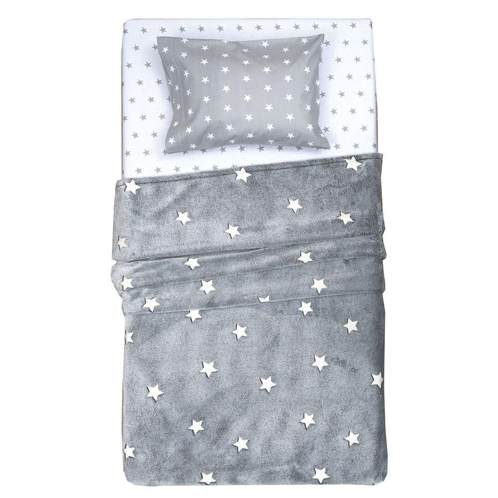 Κουβέρτα Παιδική Σχ. Ετουάλ Που Φωσφορίζει Στο Σκοτάδι Grey Viopros Μονό 150x220cm