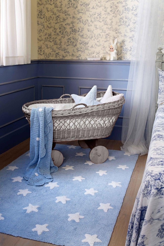 Χαλί Παιδικό Stars Γαλάζιο-Λευκό Lorena Canals 140X200