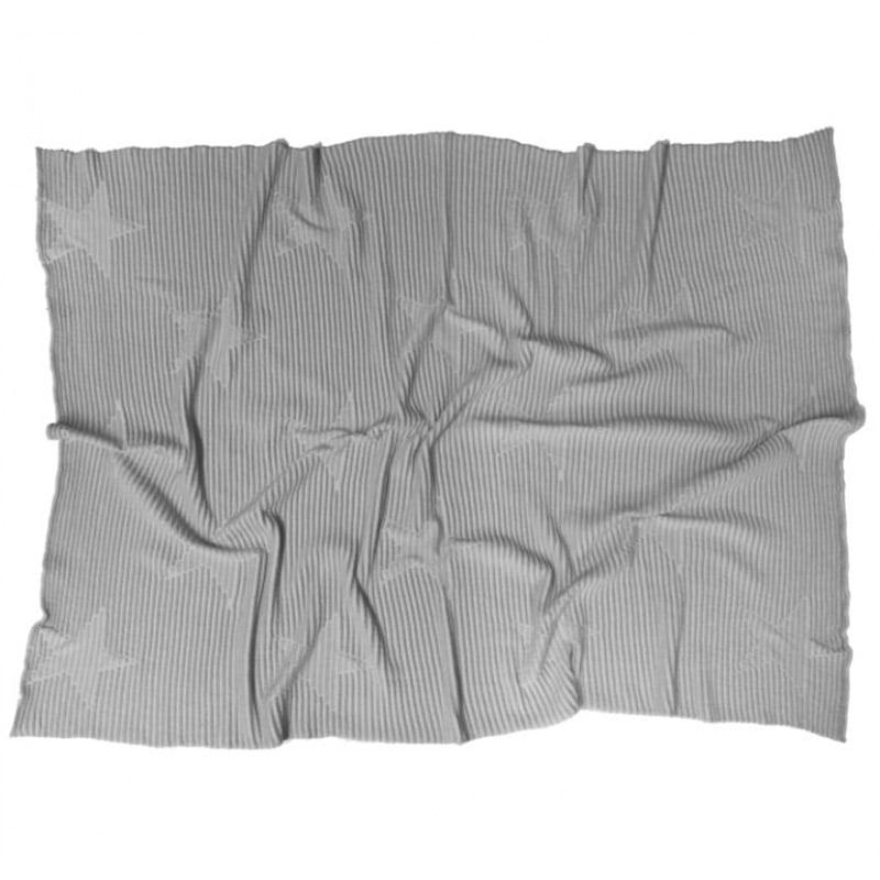 Κουβέρτα Βρεφική Hippy Stars LΟR-ΒLC-ΗΙ-SΤ-GRΕΥ Pearl Grey Lorena Canals Αγκαλιάς 90x120cm