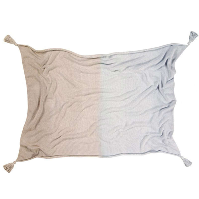 Κουβέρτα Βρεφική Ombré LΟR-ΒLC-DΕ-ΒL-Β Blue-Grey Lorena Canals Αγκαλιάς 100x120cm