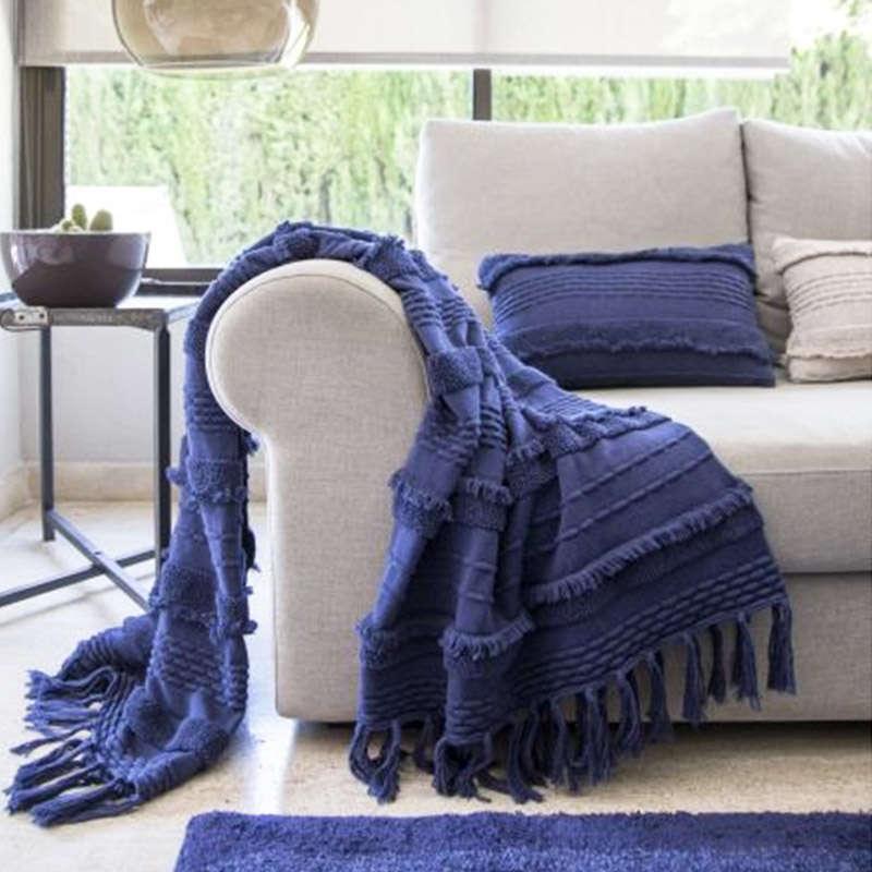 Κουβέρτα Καναπέ Βαμβακερή Air LΟR-ΒLC-ΑΙR-ΑΒL Alaska Blue Lorena Canals 100X150 100x150cm