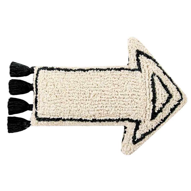 Μαξιλάρι Διακοσμητικό (Με Γέμιση) Arrow LΟR-SC-ΑRRΟW Λευκό-Μαύρο Lorena Canals 30Χ50 100% Βαμβάκι