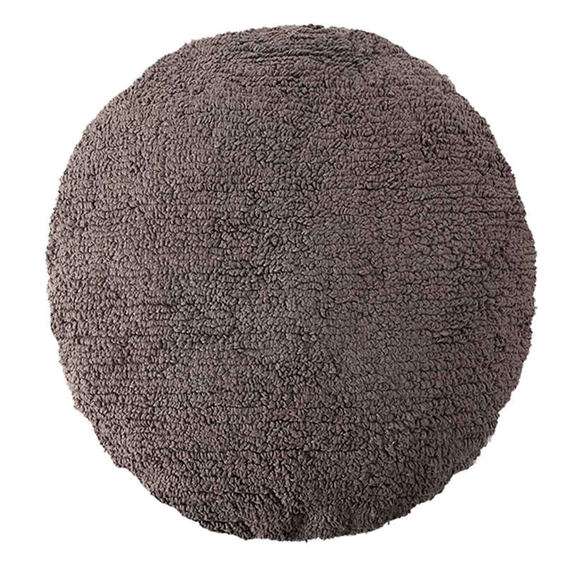 Μαξιλάρι Διακοσμητικό (Με Γέμιση) Στρόγγυλο LΟR-SC-ΒD-DGR Σκούρο Γκρι Lorena Canals 45X45 100% Βαμβάκι