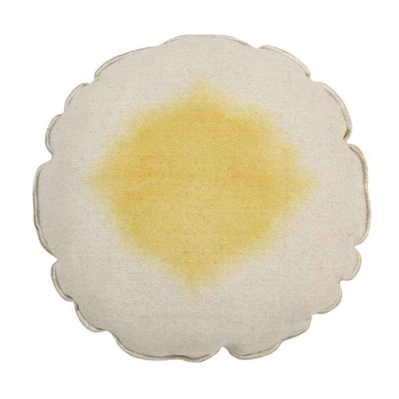 Μαξιλάρι Διακοσμητικό (Με Γέμιση) Στρογγυλό Tie-Dye LΟR-SC-ΤΙΕ-Υ Μπεζ-Κίτρινο Lorena Canals 40Χ40 100% Βαμβάκι