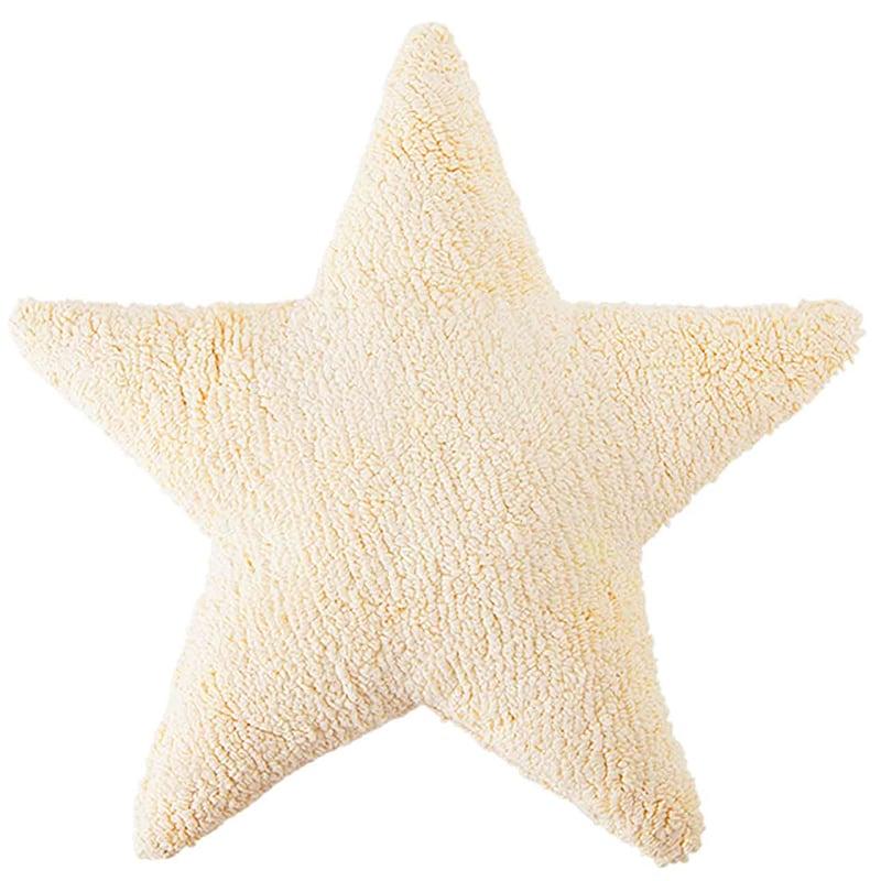 Μαξιλάρι Παιδικό Διακοσμητικό (Με Γέμιση) Αστέρι LΟR-SC-SΤ-V Βανίλια Lorena Canals 50X50