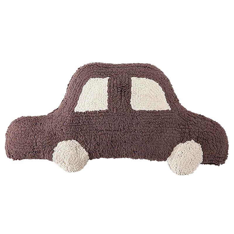 Μαξιλάρι Παιδικό Διακοσμητικό (Με Γέμιση) Αυτοκίνητο LΟR-SC-C-ΒR Καφέ Lorena Canals 20Χ50