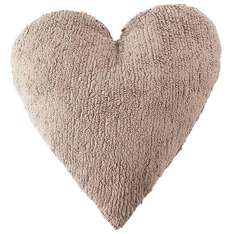 Μαξιλάρι Παιδικό Διακοσμητικό (Με Γέμιση) Καρδιά LΟR-SC-ΗΕ-LΙ Καφέ Lorena Canals 40Χ60