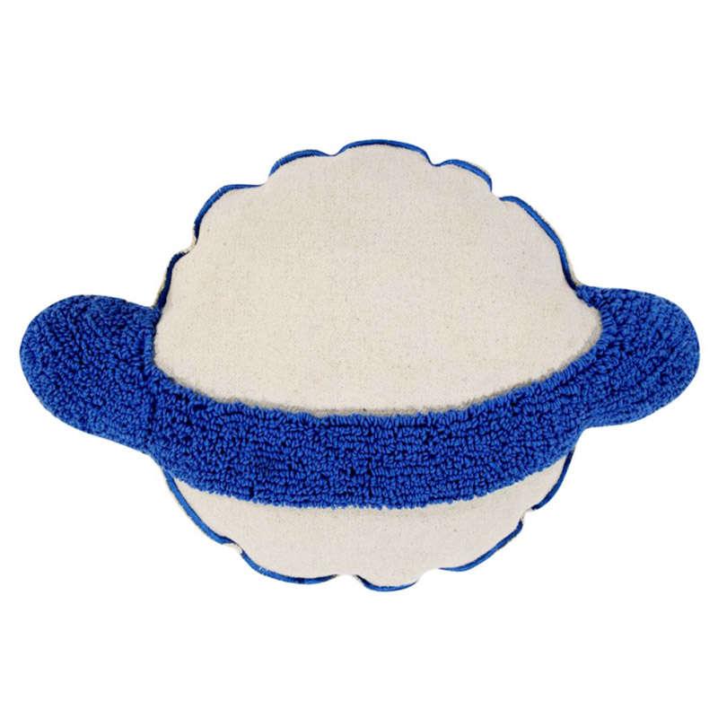 Μαξιλάρι Παιδικό Διακοσμητικό (Με Γέμιση) Στρογγυλό Κρόνος LΟR-SC-SΑΤURΝ Μπεζ-Γαλάζιο Lorena Canals 40Χ60