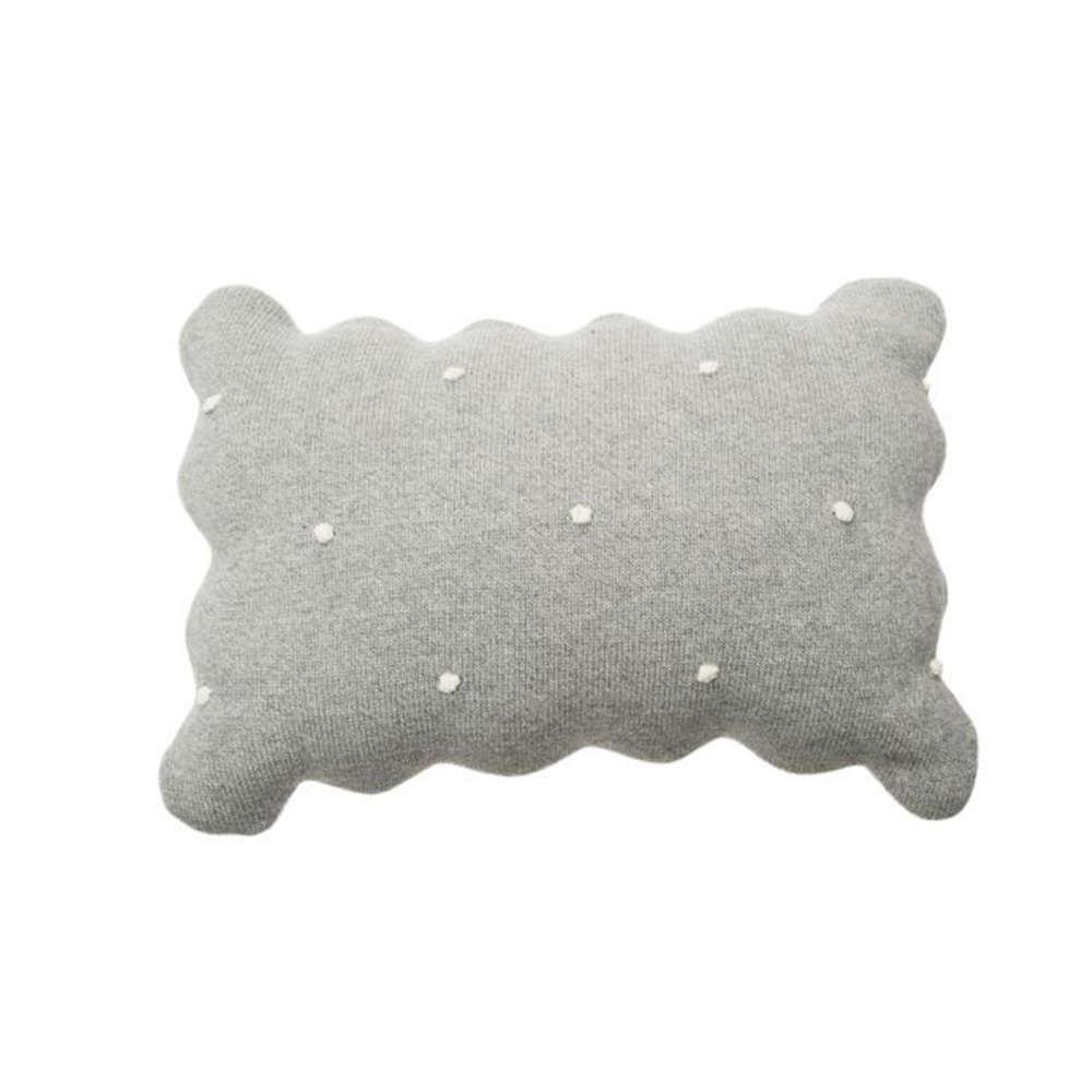 Μαξιλάρι Παιδικό Διακοσμητικό (Με Γέμιση) Biscuit LΟR-SC-ΒΙSCUΙΤ-GR Grey Lorena Canals 30Χ50