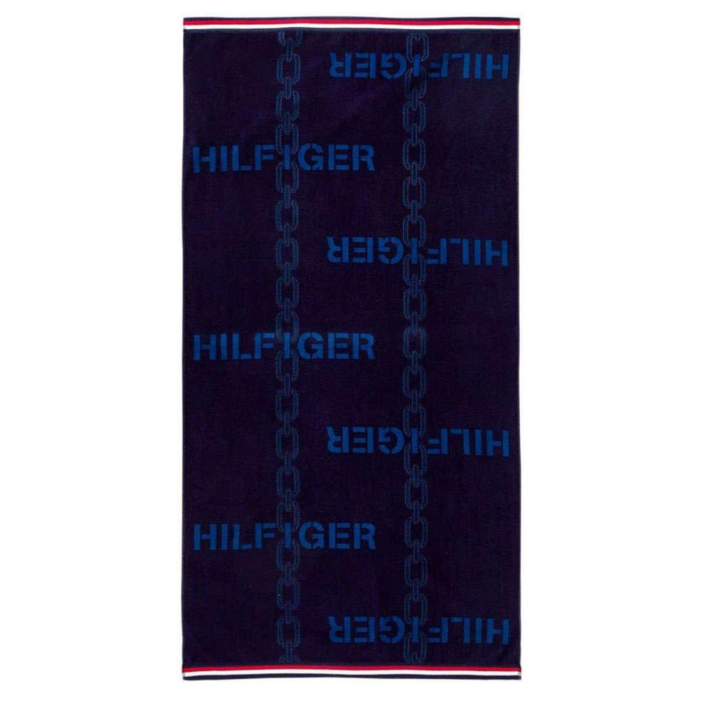 Πετσέτα Θαλάσσης Cable Navy Tommy Hilfiger Θαλάσσης 90x170cm