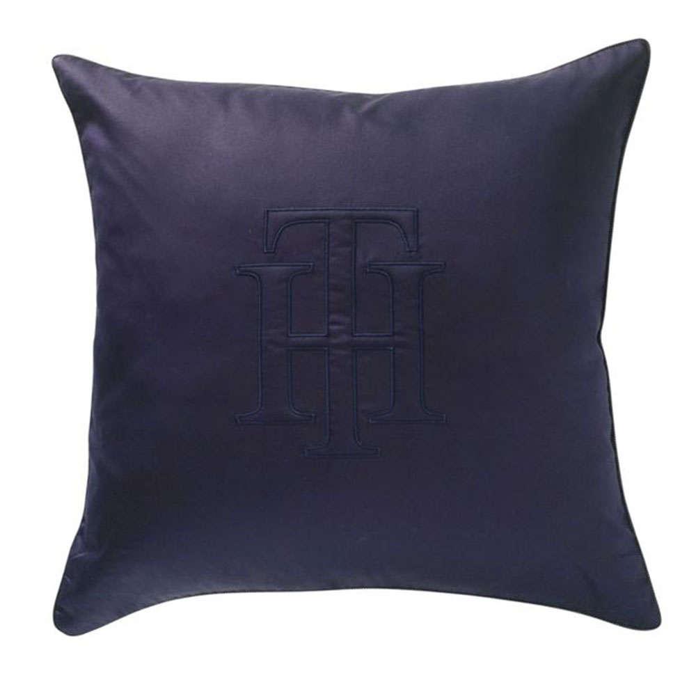 Μαξιλάρι Διακοσμητικό (Με Γέμιση) Smart Navy Tommy Hilfiger 50X50 100% Βαμβακοσατέν
