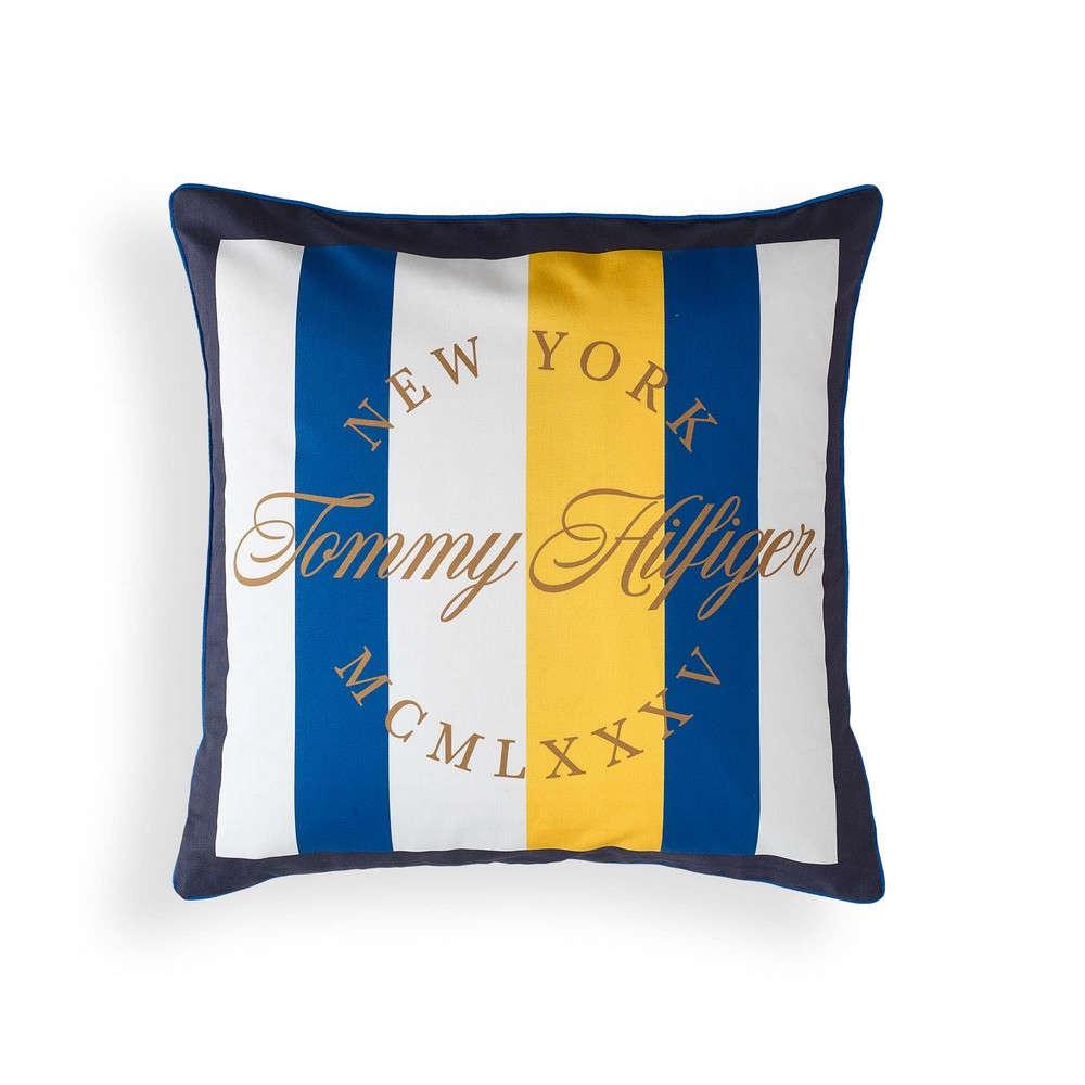 Μαξιλάρι Διακοσμητικό (Με Γέμιση) Satin New York Yellow Tommy Hilfiger 40Χ40 100% Βαμβάκι