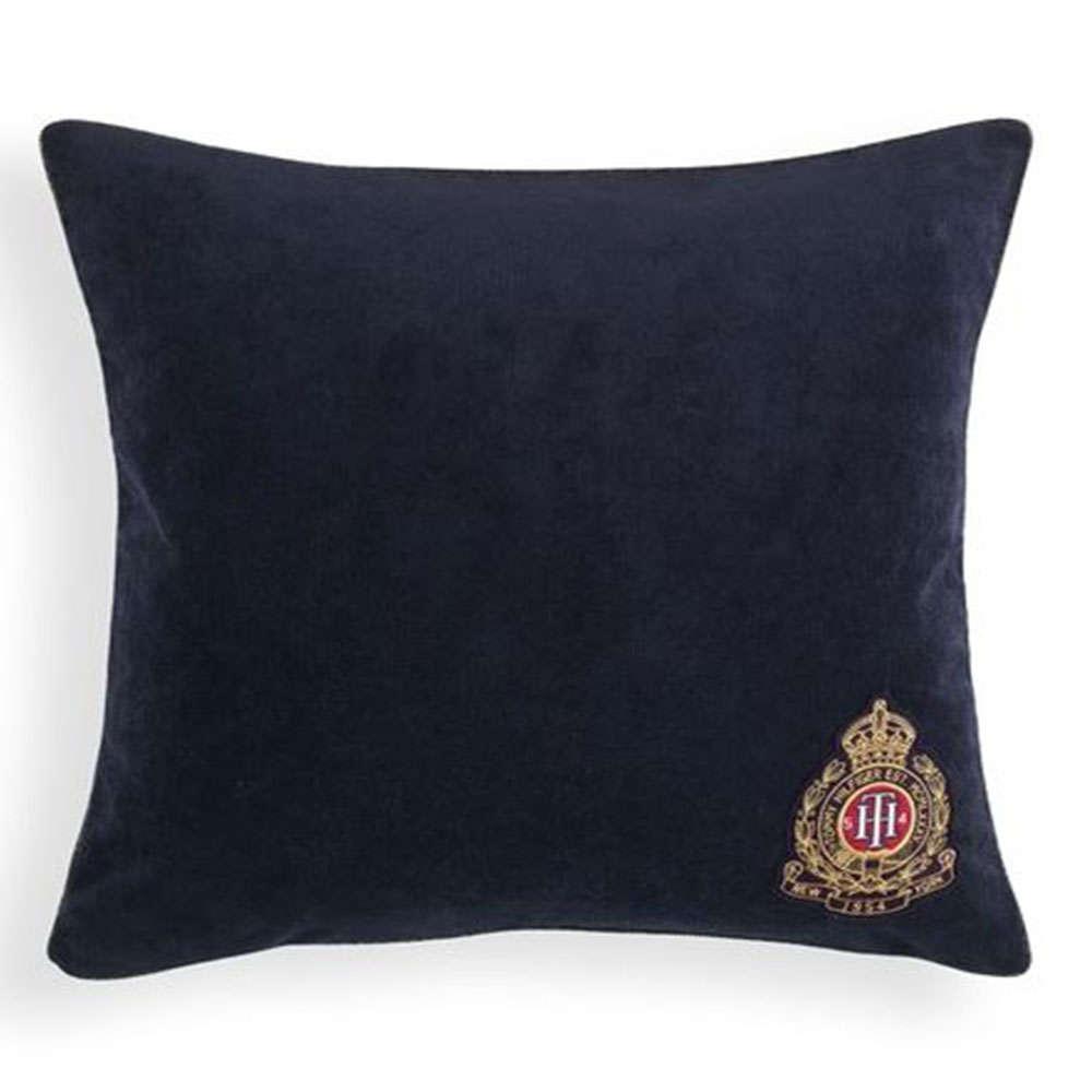 Μαξιλάρι Διακοσμητικό (Με Γέμιση) Crest Decos Navy Tommy Hilfiger 40Χ40 100% Βαμβάκι