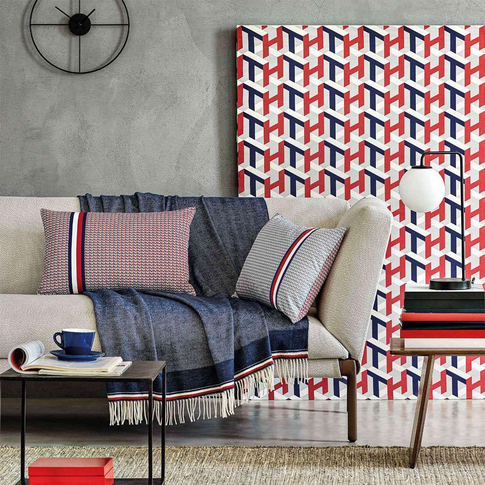 Κουβέρτα Καναπέ Elegant Navy Tommy Hilfiger 150X180 130x170cm