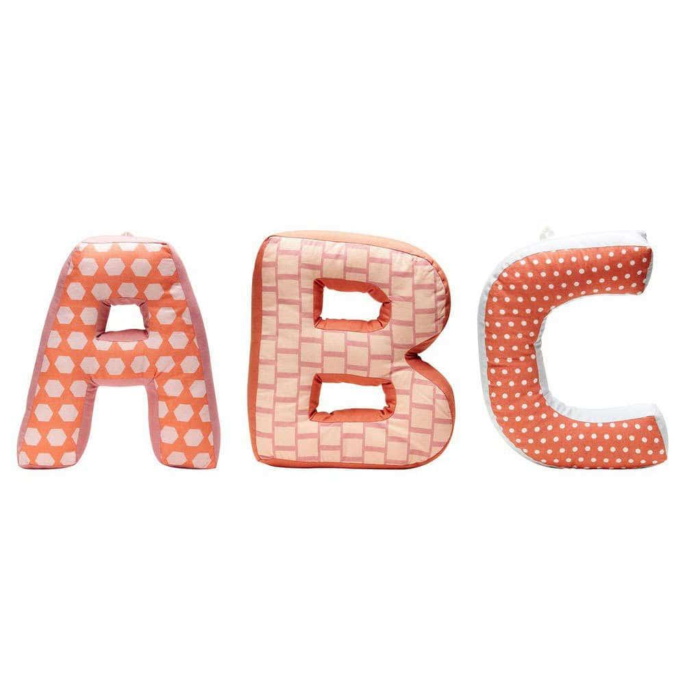 Μαξιλάρια Διακοσμητικά (Με Γέμιση) Παιδικά Σετ ΚC1000087 ABC Orange Kid's Concept 20Χ50