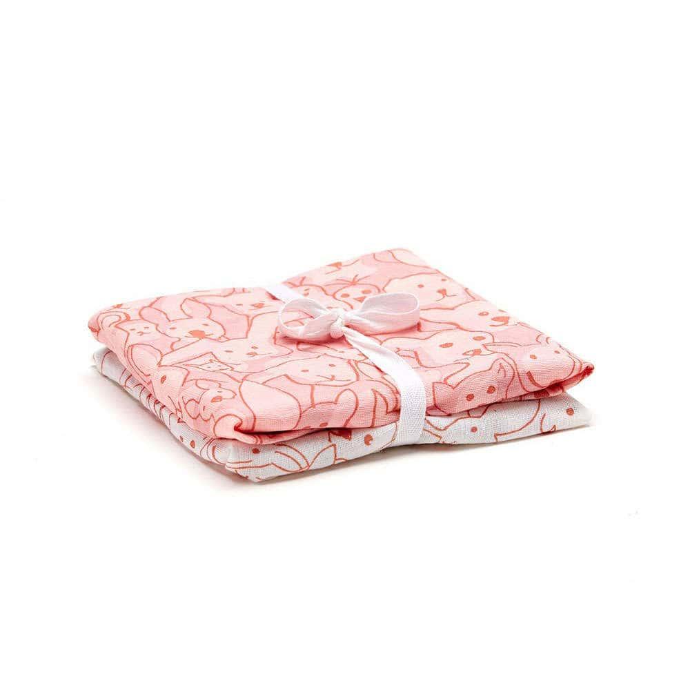 Κουβέρτες Βρεφικές Σετ 2τμχ ΚC1000092 Edvin Pink Kid's Concept ΑΓΚΑΛΙΑΣ 80x70cm