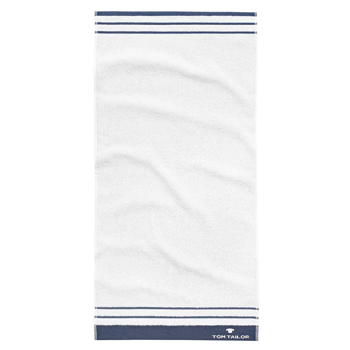 Πετσέτα 100 607 900 White – Blue Tom Tailor Σώματος 70x140cm