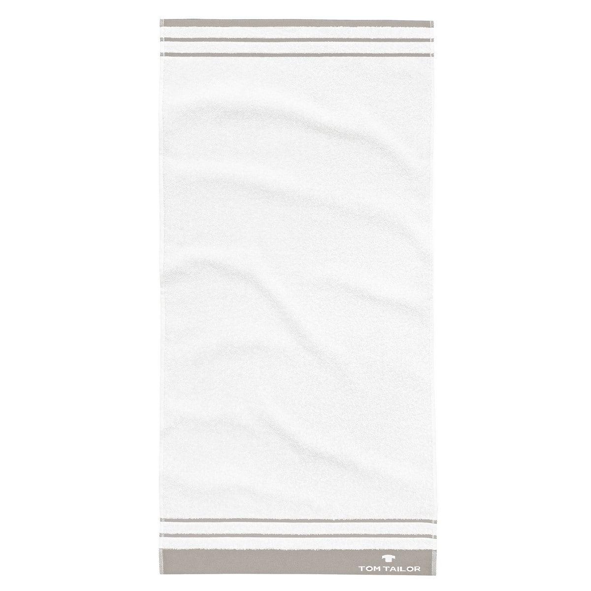 Πετσέτα 100 607 939 White – Beige Tom Tailor Σώματος 70x140cm