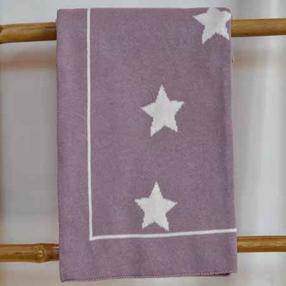Κουβέρτα Βρεφική Πλεκτή 3098 Stars Lila Nexttoo ΑΓΚΑΛΙΑΣ 70x90cm