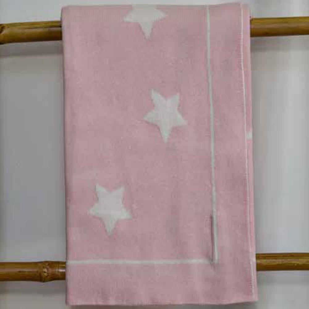 Κουβέρτα Βρεφική Πλεκτή 3098 Stars Pink Nexttoo ΑΓΚΑΛΙΑΣ 70x90cm