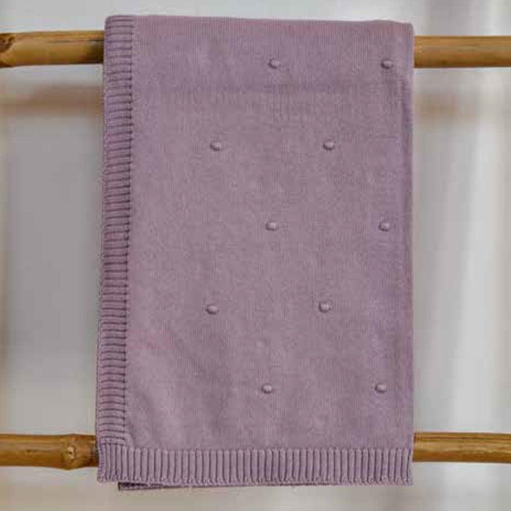 Κουβέρτα Βρεφική Πλεκτή 3099 Dots Lila Nexttoo ΑΓΚΑΛΙΑΣ 70x90cm
