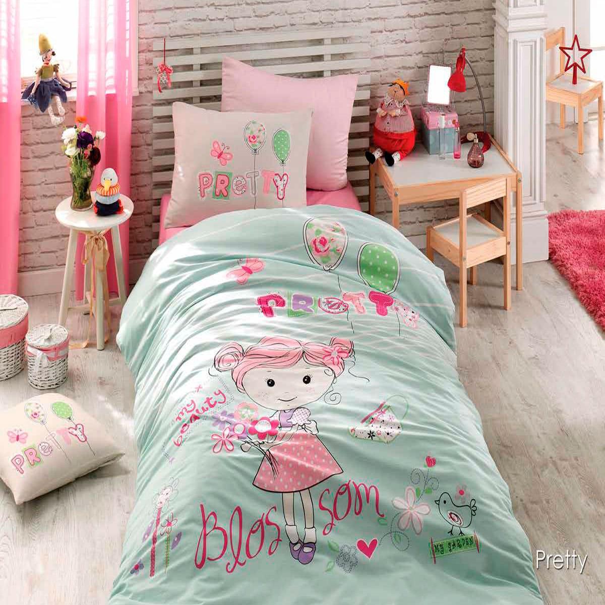 Πάπλωμα Παιδικό Σετ 2τμχ 3078 Pretty Green-Pink Nexttoo Μονό 160x240cm