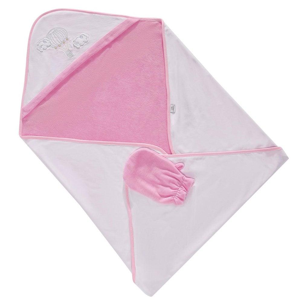Κάπα Βρεφική & Γάντι Μπάνιου 3059 Balloon Pink Sydney Baby 0-1 ετών One Size