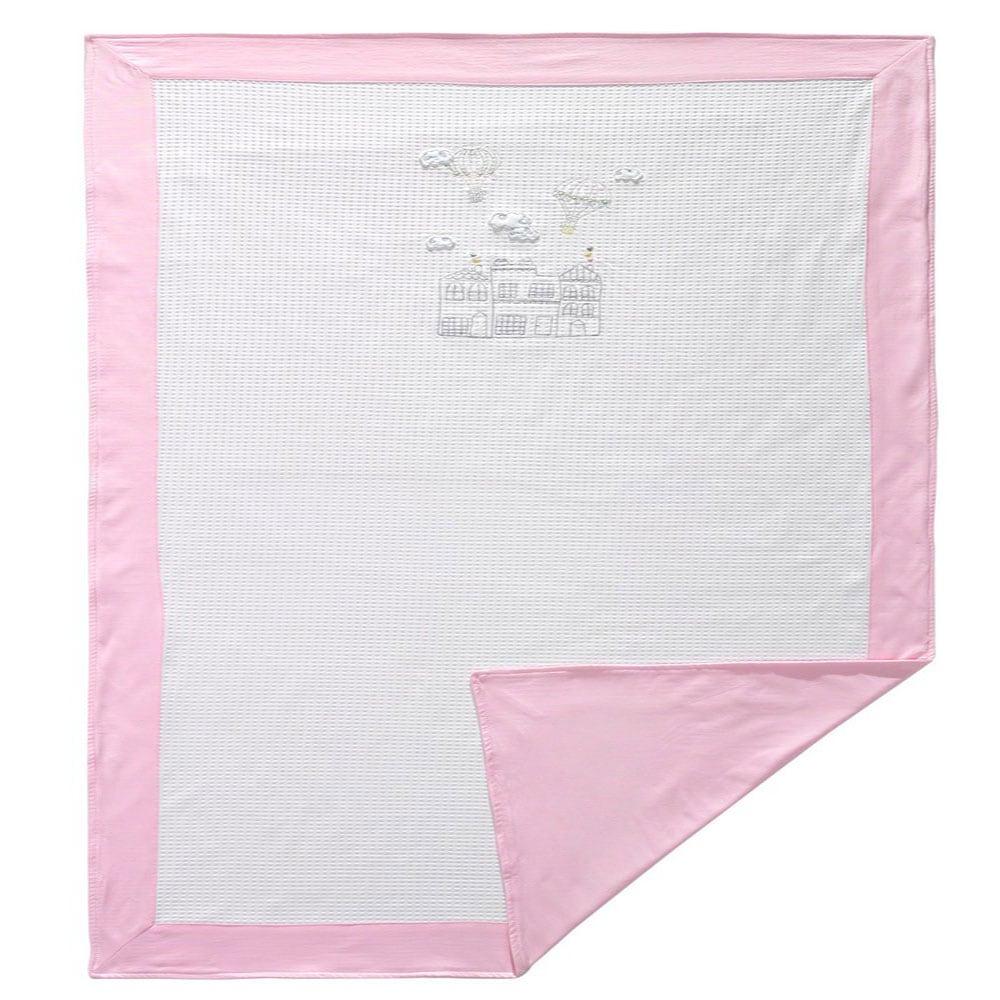 Κουβέρτα Βρεφική Πικέ 3059 Balloon Pink Sydney Baby Κούνιας 80x130cm