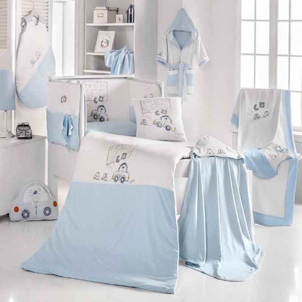 Κουβέρτα Βρεφική Πικέ 3065 Travel Bear Blue Sydney Baby Κούνιας 80x130cm