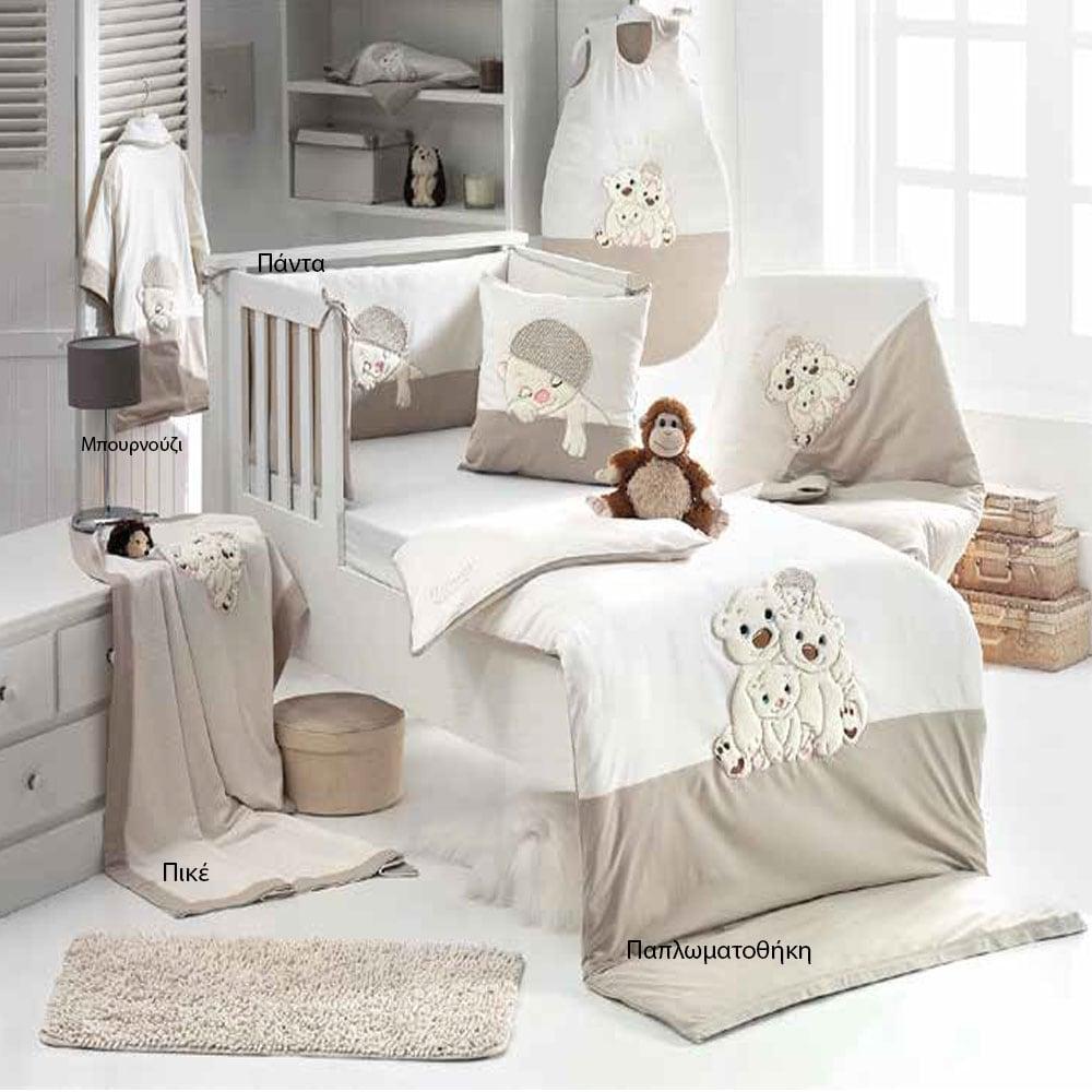 Κουβέρτα Βρεφική Πικέ 3066 Warm Family Stone Sydney Baby Κούνιας 80x130cm