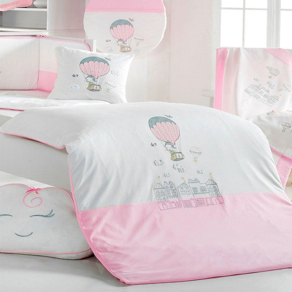 Παπλωματοθήκη Βρεφική Σετ 2τμχ 3059 Balloon Pink Sydney Baby 100x135cm
