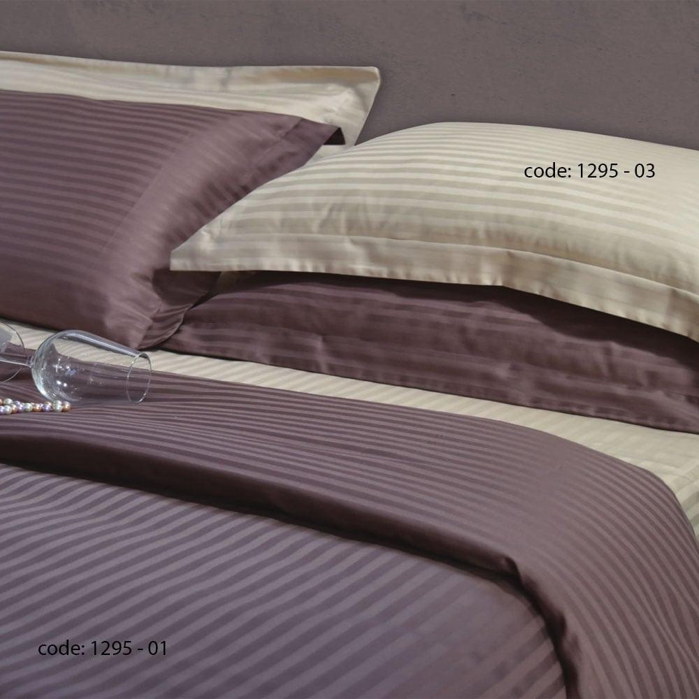 Κουβερλί Σετ 3Τεμ 1295 01 Brown Homeline Υπέρδιπλo 220x235cm