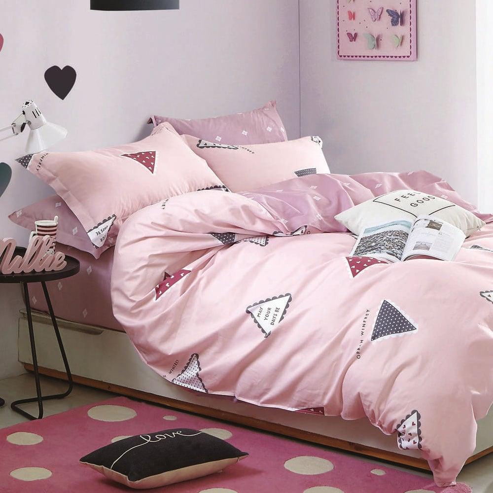 Πάπλωματοθήκη Παιδική Σετ 2τμχ 1273 165Χ250 Somon-Pink Homeline Ημίδιπλο 165x250cm