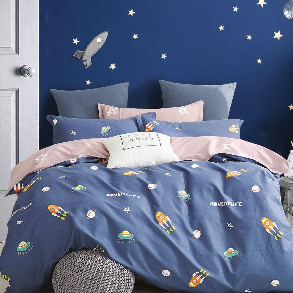 Σεντόνια Παιδικά Σετ 3Τεμ 1272 170Χ260 Blue Jean Homeline Ημίδιπλο 170x260cm