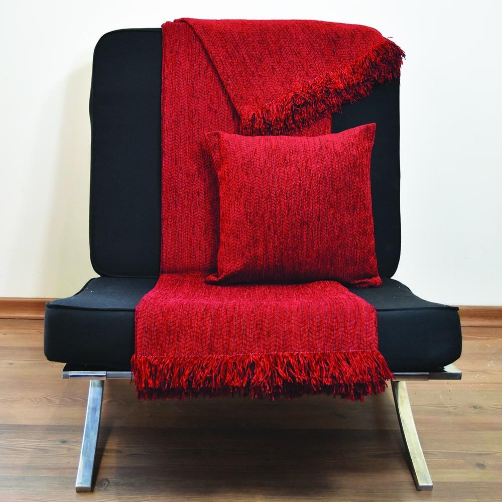 Μαξιλαροθήκη Σενίλ 6010 05 Red Nexttoo 40Χ40 Βαμβάκι-Polyester