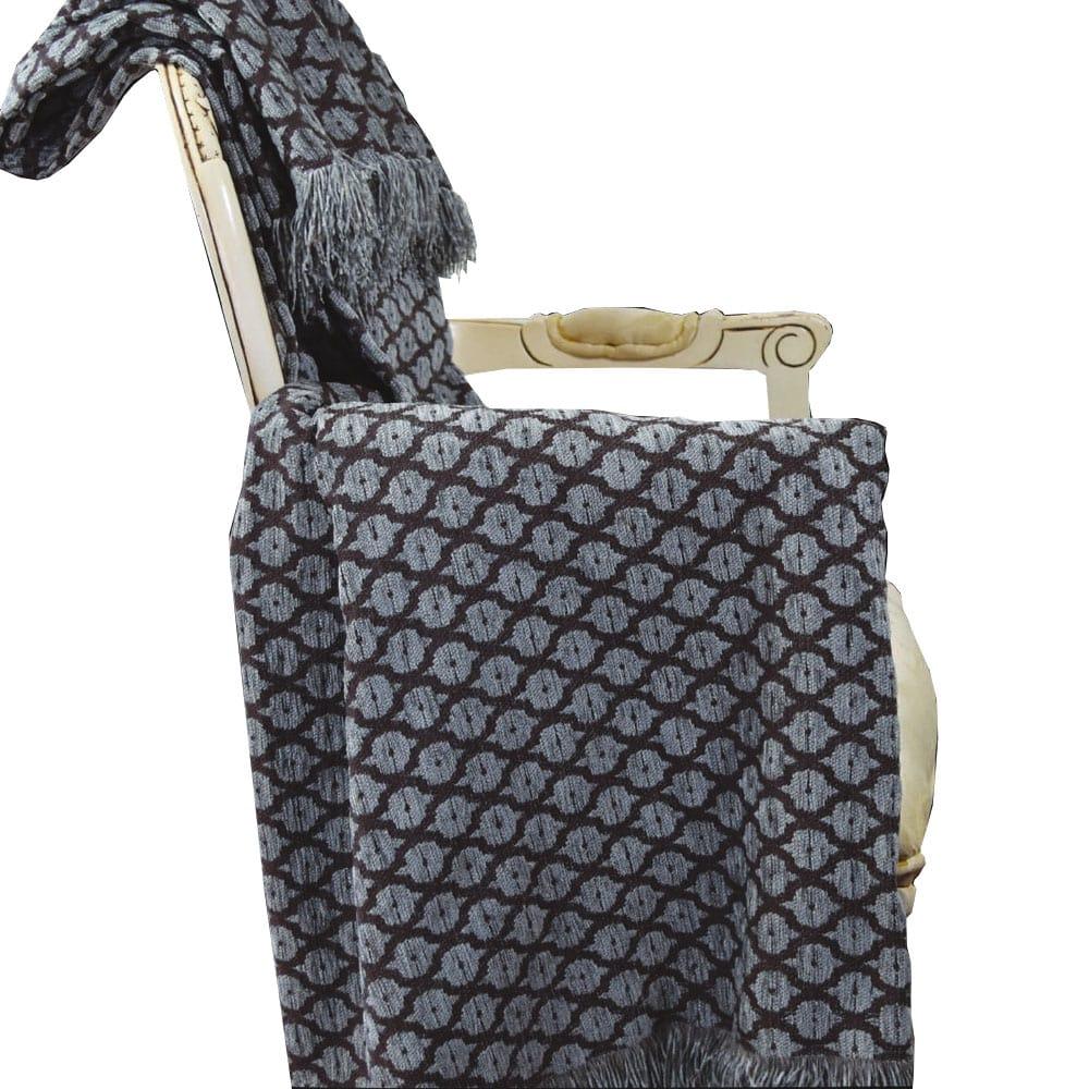 Μαξιλαροθήκη Σενίλ 6011 01 Grey Nexttoo 40Χ40 Βαμβάκι-Polyester
