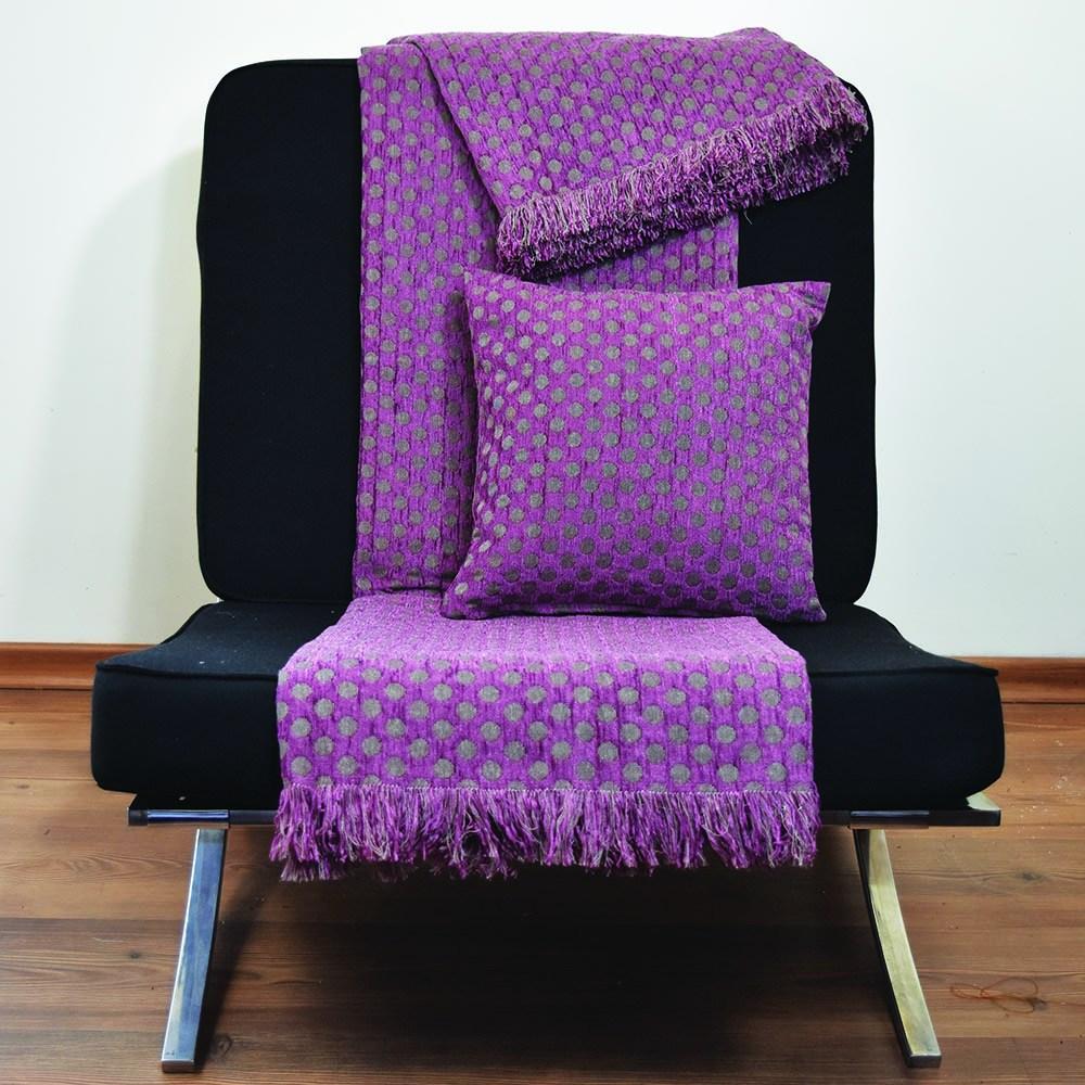 Ριχτάρι Σενίλ Πολυθρόνα 6012 01 Purple Nexttoo Πολυθρόνα 180x170cm