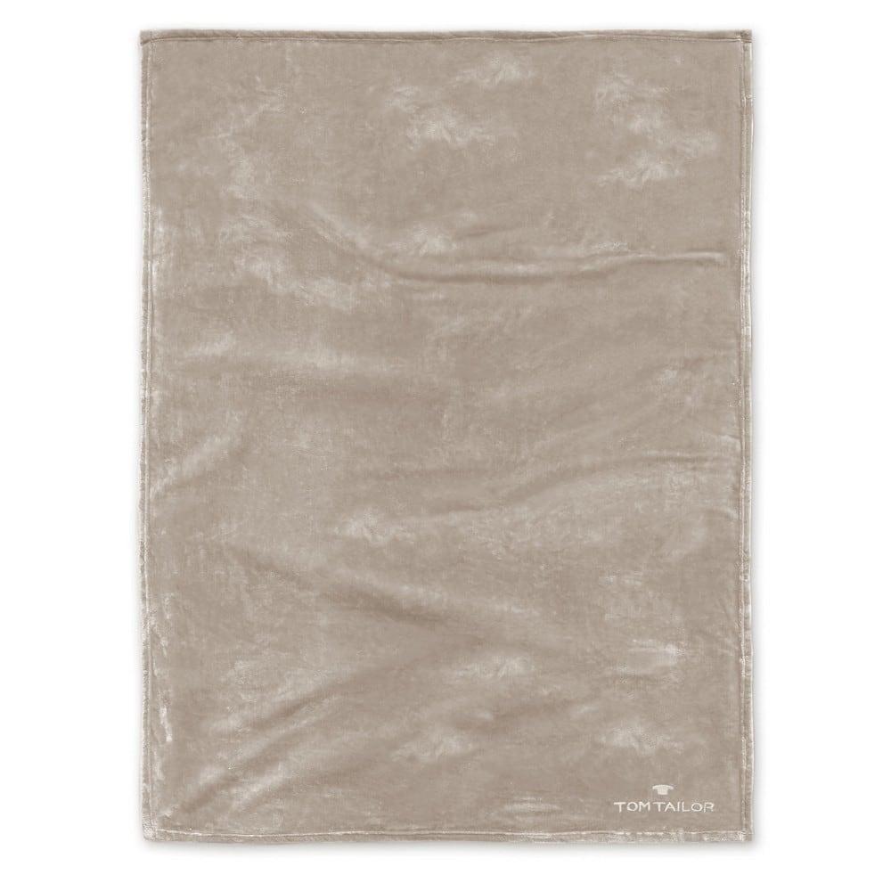 Κουβέρτα Fleece 237798 839 Taupe Tom Tailor 150X200 180x220cm