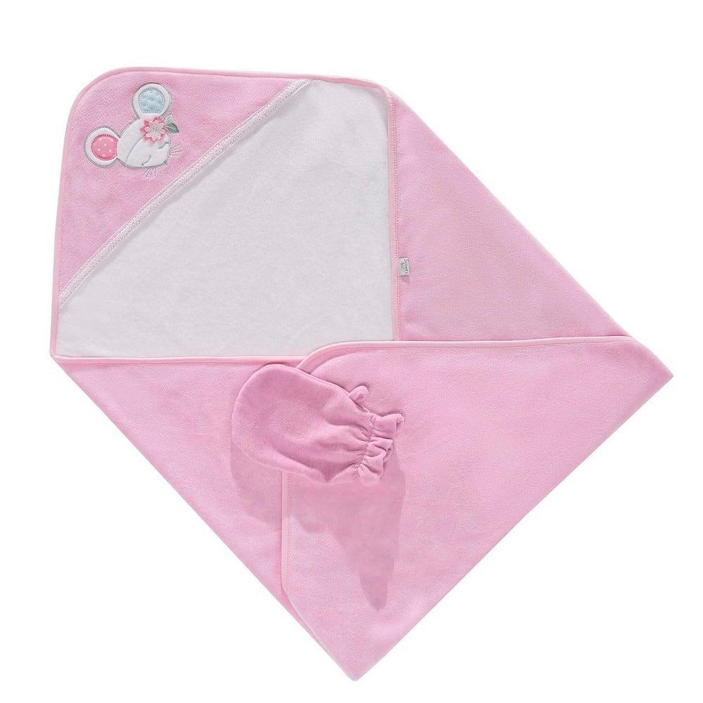 Κάπα & Γάντι Βρεφικά Dolly 3061 Pink Sydney Baby 0-2 ετών One Size
