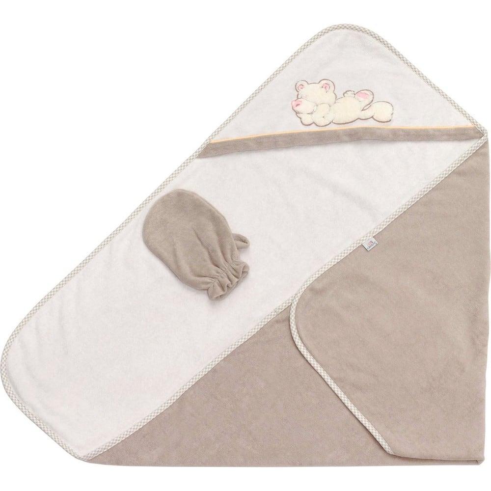 Κάπα & Γάντι Βρεφικά Little Bear 3064 Beige-White Sydney Baby 0-2 ετών One Size