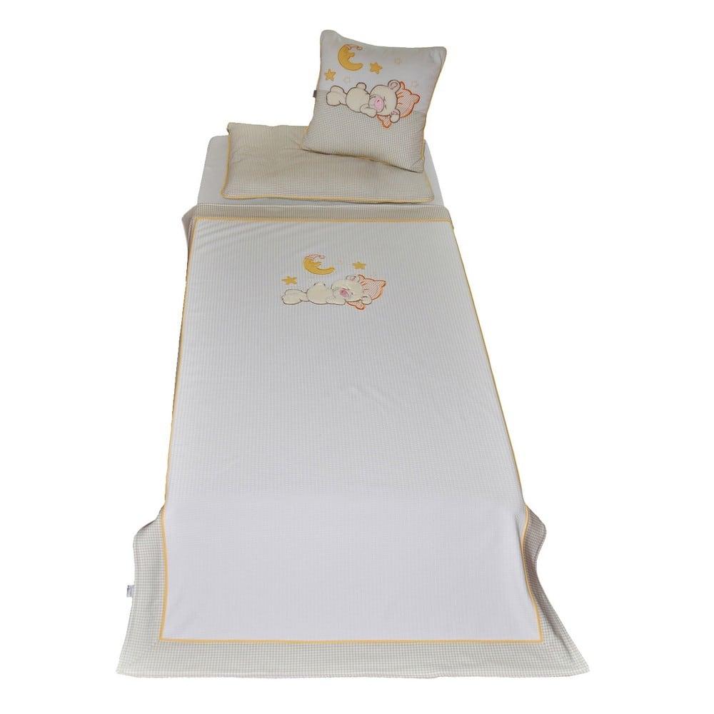 Κουβέρτα Πικε Βρεφικη Little Bear 3064 Beige-White Sydney Baby ΑΓΚΑΛΙΑΣ 80x130cm