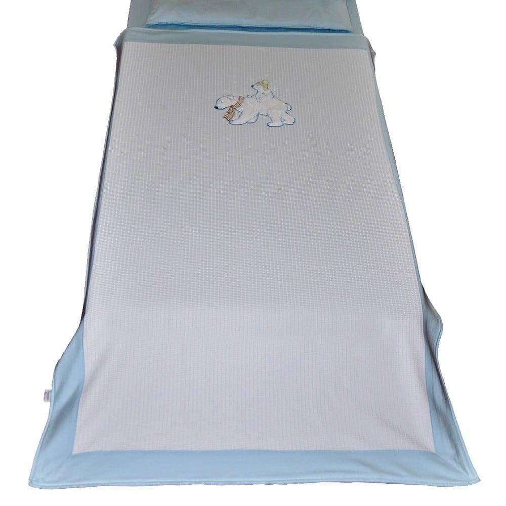 Κουβέρτα Πικε Βρεφικη WhiteBears 3067 Ciel Sydney Baby ΑΓΚΑΛΙΑΣ 80x130cm