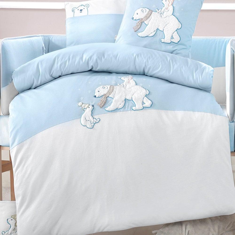 Πάπλωματοθήκη Σετ 2τμχ Βρεφικό White Bears 3067 & Ciel Sydney Baby 100x135cm