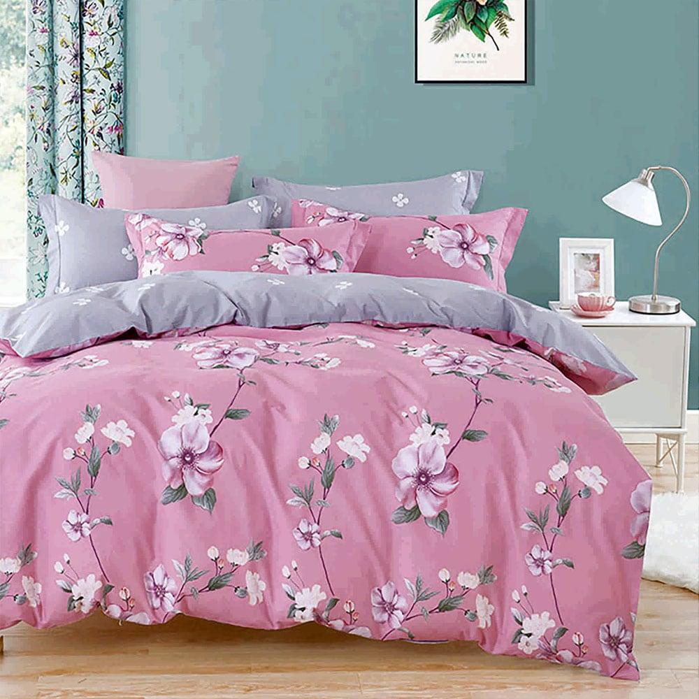 Κουβερλί Σετ 3τμχ 1232 Pink-Grey Homeline Υπέρδιπλo 225x240cm