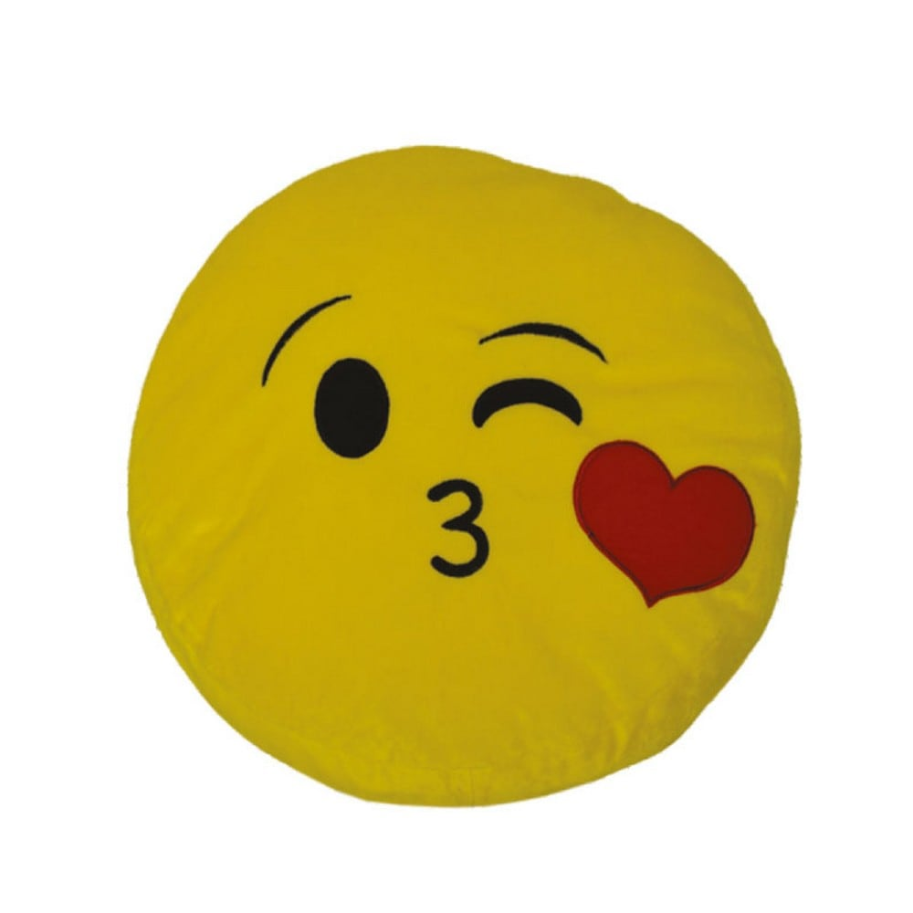 Μαξιλάρι Διακοσμητικό Παιδικό (Με Γέμιση) Εmoji 5 Yellow Homeline 40Χ40