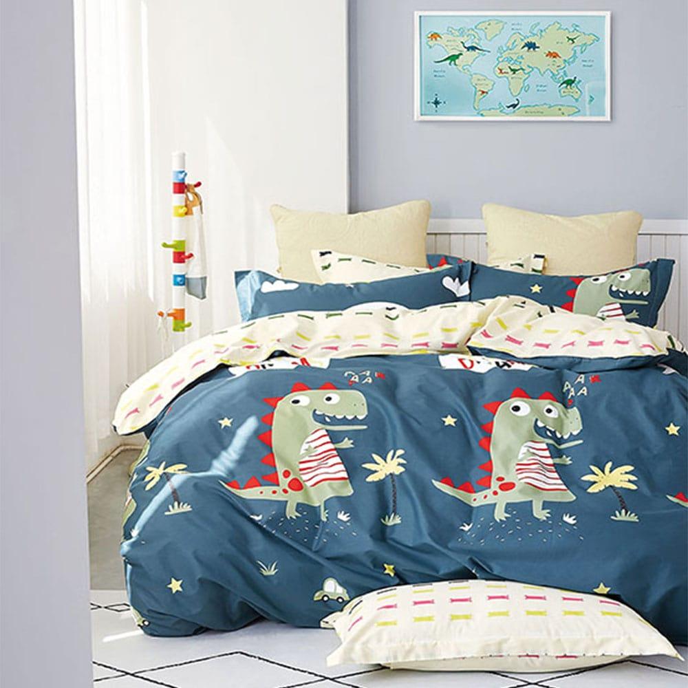 Πάπλωμα Παιδικό Σετ 2τμχ 1311 Blue – Green Homeline Μονό 160x235cm