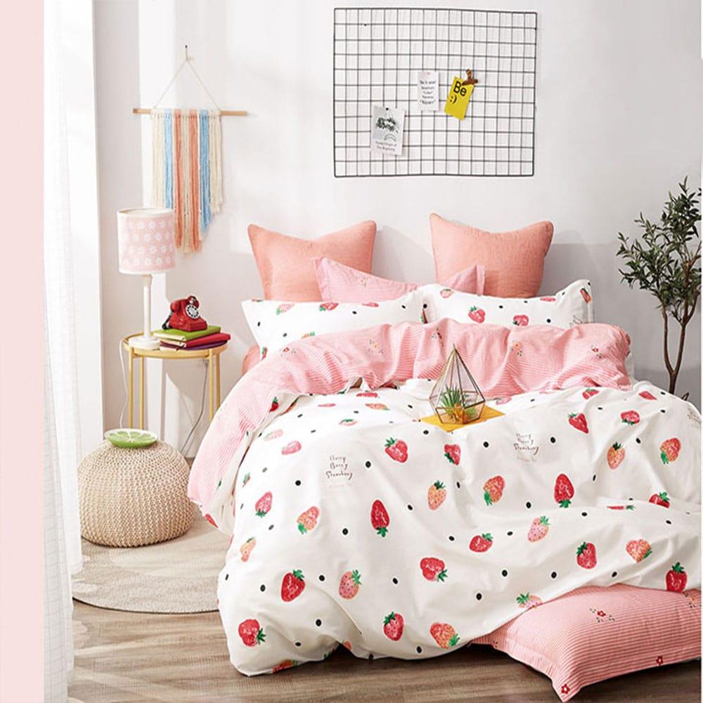 Παπλωματοθήκη Παιδική Σετ 2τμχ 1315 White – Pink Homeline Μονό 165x250cm
