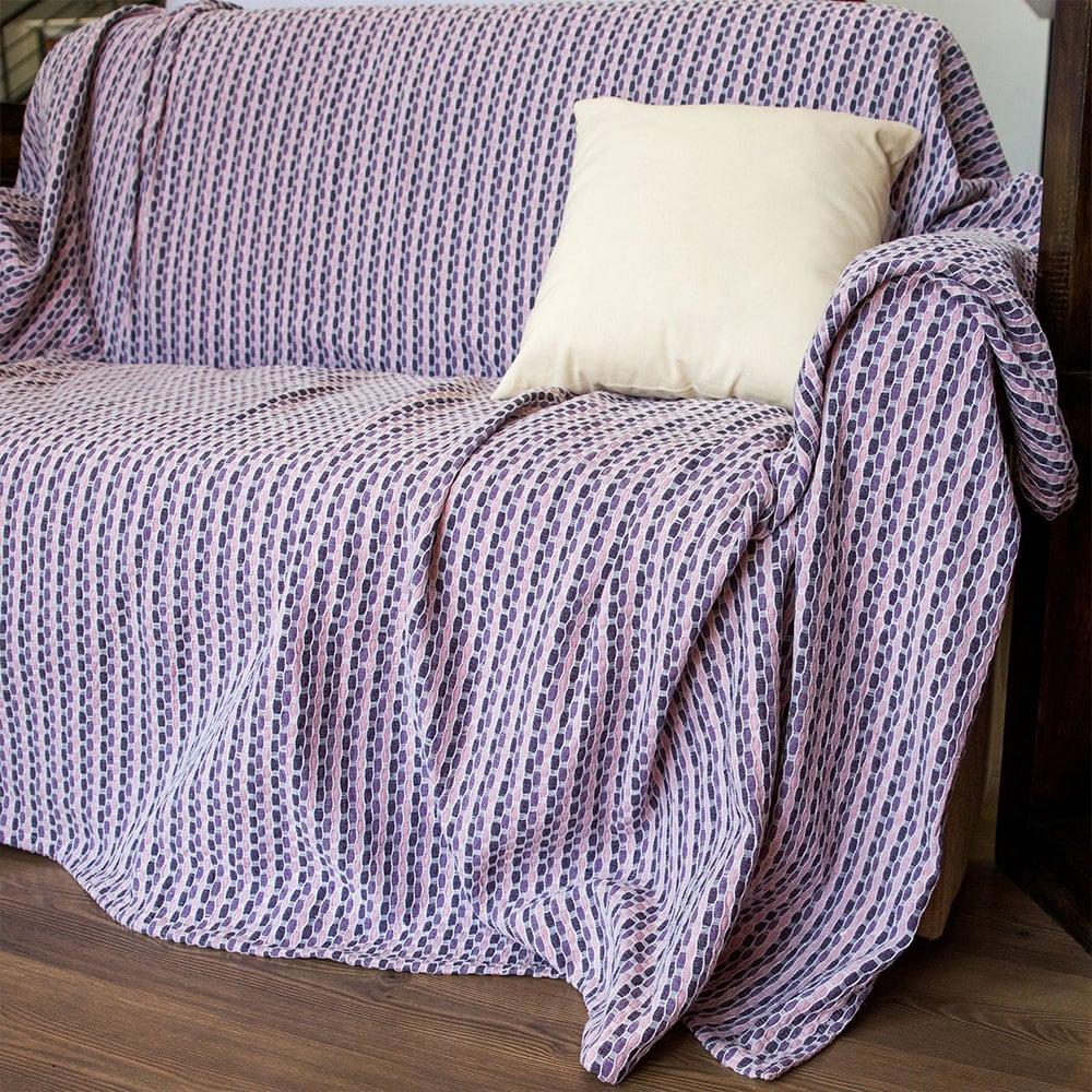 Ριχτάρια Σετ 3τμχ 2604 Lila Purple-Lila Homeline Σετ Ριχτάρια 180x330cm